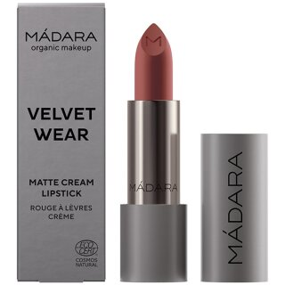 VELVET WEAR Matte Cream Lipstick, #32 WARM NUDE, 3.8g